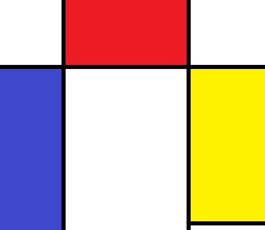In The Style of Mondrian